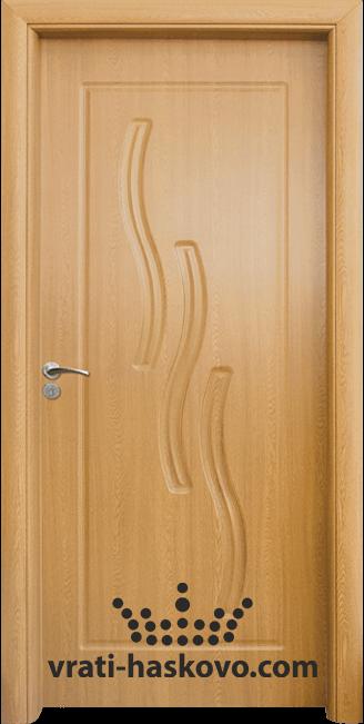 Интериорна HDF врата, модел 014-P Светъл дъб