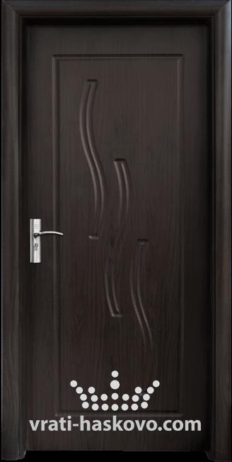 Интериорна HDF врата, модел 014-P Венге