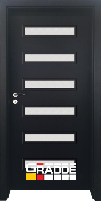 Интериорна HDF врата, модел Gradde Schwerin, Орех Рибейра