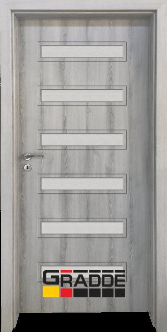 Интериорна HDF врата, модел Gradde Schwerin, Ясен Вералинга