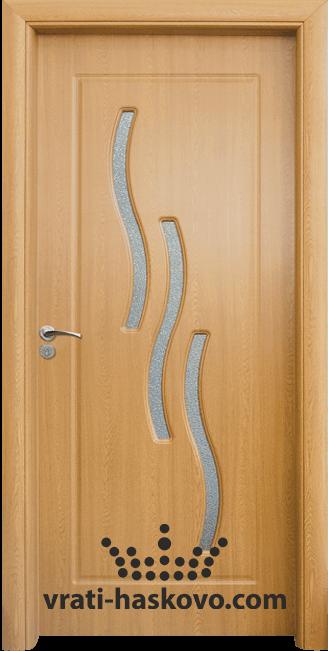Интериорна HDF врата, модел 014 Светъл дъб