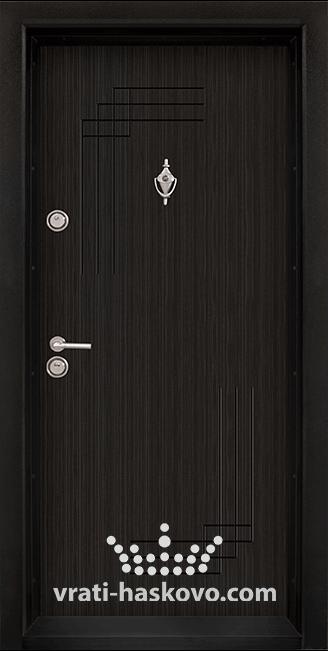 Блиндирана входна врата, модел Т111, цвят Черна перла