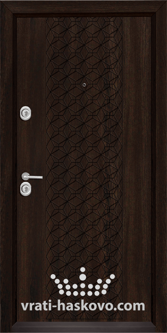 Блиндирана входна врата Т-1001, цвят Венге