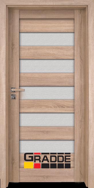 Интериорна HDF врата, модел Gradde Aaven Glas, Дъб Вераде