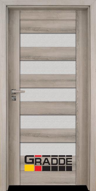 Интериорна HDF врата, модел Gradde Aaven Glas, Ясен Вералинга