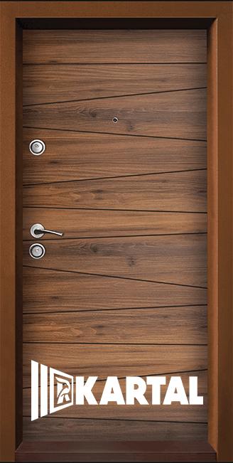 Блиндирана входна врата ТP-005, цвят Савана